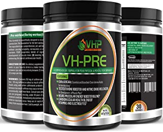 VH-PRE Pre Workout Supplements – Complete Pre Workout and Energy Drink Supplement – Workout Powder for Men and Women to Maximize Energy Levels – 30 Servings Strawberry Flavor Pre Workout Powder