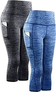 Women's Yoga Capris Tummy Control High Waist Workout Pants