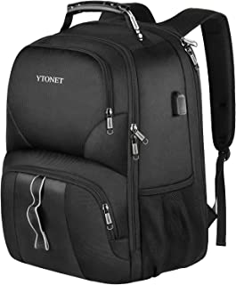 Ytonet Travel Laptop Backpack, 17 Inch TSA Extra Large Carry on Backpacks with USB Port, College School Bookbag for Men Women 45L, Black