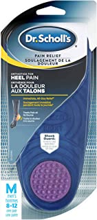 Dr. Scholl's HEEL Pain Relief Orthotics // Clinically Proven to Relieve Plantar Fasciitis, Heel Spurs and General Heel Agg...