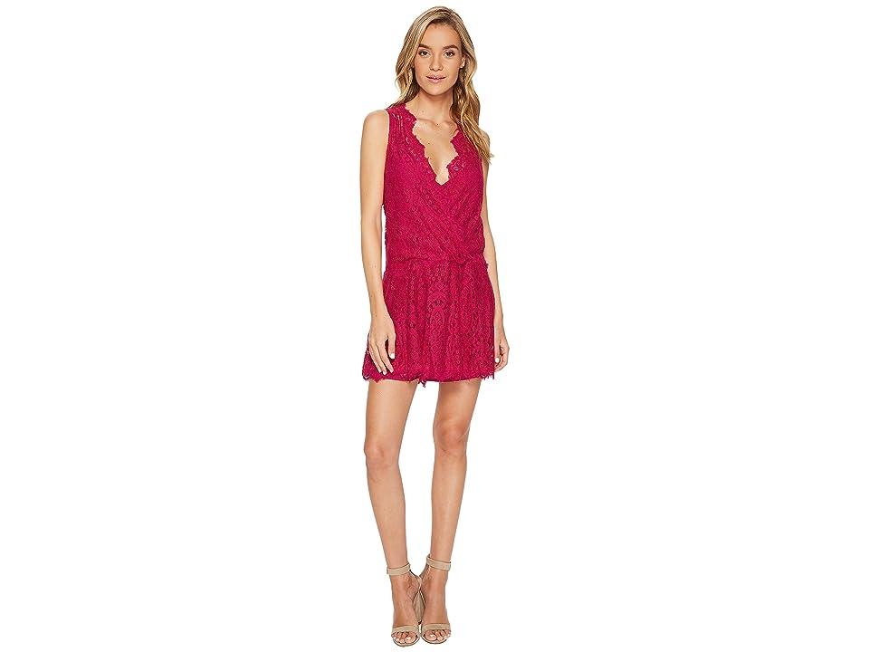 Free People Heart In Two Mini Dress (Raspberry) Women