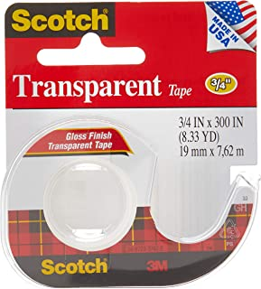 Scotch 157S Transparent Tape, 3/4 X 300 Inch