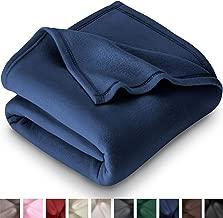 Bare Home Polar Fleece Blanket - Full/Queen - Warm Cozy - Hypoallergenic Premium Poly-Fiber Yarns - Thermal - Lightweight Bed Blanket (Full/Queen, Dark Blue)