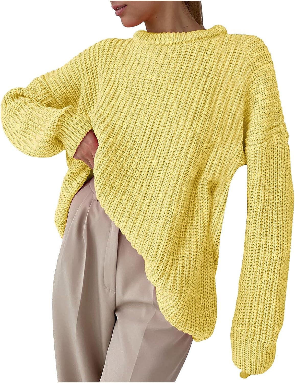 JINLILE Winter Sweater Pullover Women Tops Long Sleeve Fleece Lightweight Casual Loose Fit
