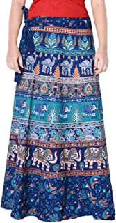Rajvila Women's Cotton Printed Long 36 Inch Length Regular Wrap Around Skirt Colour (F_W36NT_0001)