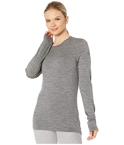 Icebreaker 200 Oasis Merino Baselayer Long Sleeve Crewe (Gritstone Heather 1) Women