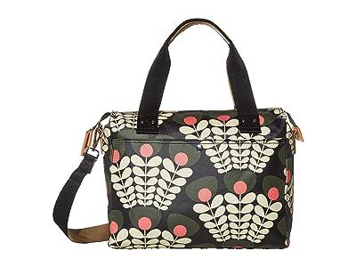 Orla Kiely Bunch of Stems Zip Messenger (Forest) Satchel Handbags