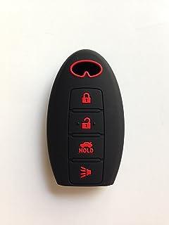 جراب أسود مع أحمر مكتوب عليه كلمات Fob عن بُعد لهاتف Infiniti EX35 FX35 FX50 G35 G37 M35 M45h M56 QX56 Smart KR5S180144014...