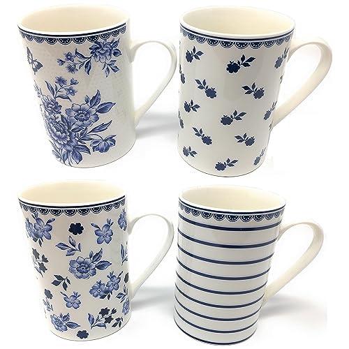 a6701267418 Blue and White Mugs: Amazon.co.uk