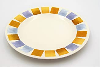 Melamine 10 inch round plate 6 pcs, Multi Color
