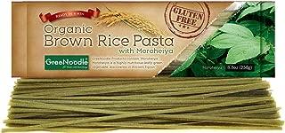 Greenoodle Organic Brown Rice Pasta with Moroheiya, 8.8 oz
