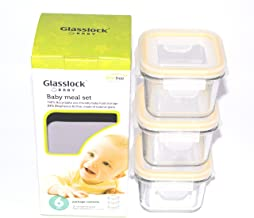 Glasslock Baby Food Square Container, 3-Piece Set, Clear, GL-544