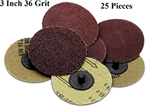 Katzco Sanding Disc – 25 Piece Set of Heavy Duty and Durable 3 Inch 36 Grit Sander - Automotive, Tools and Equipment, Body Repair Tool
