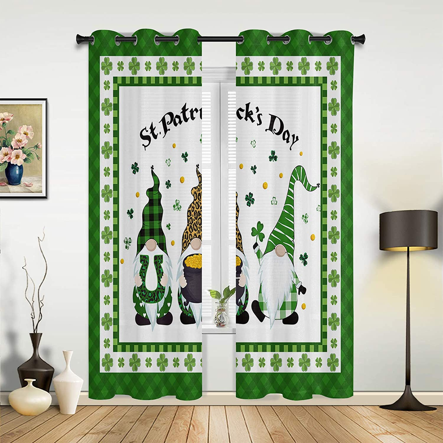 Window Sheer Curtains Superior for Genuine Free Shipping Bedroom Living St. Room Happy Patrick'