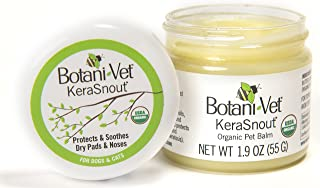 BotaniVet KeraSnout Organic Pet Balm - for Dry and Cracked Noses and Paw Pads - 1.9oz