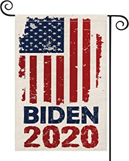 AVOIN 2020 Biden Garden Flag Vertical Double Sided Patriotic Strip and Star, American President Election Yard Outdoor Decoration 12.5 x 18 Inch