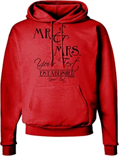 TOOLOUD Personalized Mr and Mrs -Name- Established -Date- Design Hoodie Sweatshirt