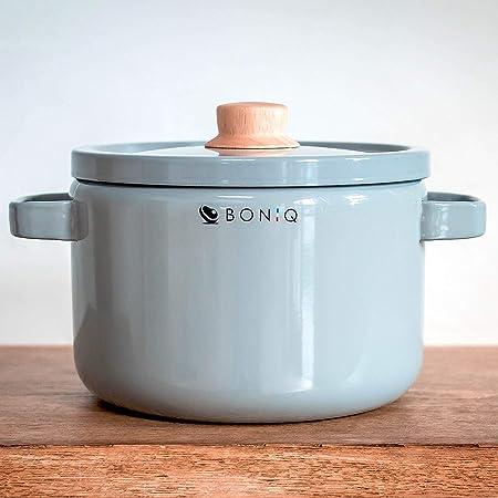 BONIQ ホーロー鍋 キャセロール 22cm 5.6L (アーバンアッシュ)