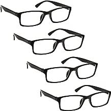 L'azienda Occhiali Da Lettura Nero Lettori Valore 4 Pacco Uomo Donna UVR4092BK Diottria +1,50