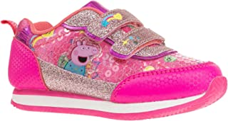Peppa Pig Pink Glitter Strap Sparkle Jogger Sneaker