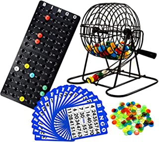 Regal Games Deluxe Bingo Game Set with Bingo Cage, Bingo Board, Bingo Balls, 18 Bingo Cards, and Bingo Chips