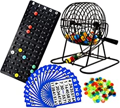 Regal Games Deluxe Bingo Game Set with Bingo Cage, Bingo Board, Bingo Balls, 18 Bingo Cards, and Bingo Chips