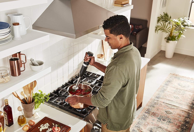 KitchenAid KHBBV53DG Cordless Hand Blender, 8 inch, Matte Charcoal Grey Black Matte