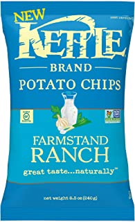 Kettle Brand Potato Chips, Farmstand Ranch Kettle Chips, 8.5 Oz