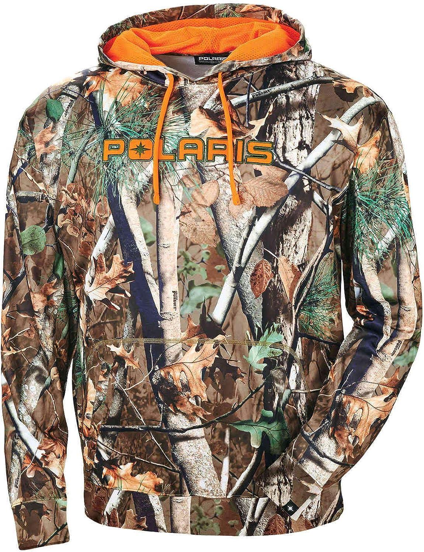 Polaris Men's Pursuit Camo Hoodie with Orange Logo