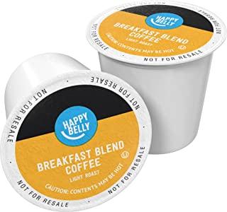 Amazon Brand – 100 Ct. Happy Belly Light Roast Coffee Pods, Breakfast Blend,..