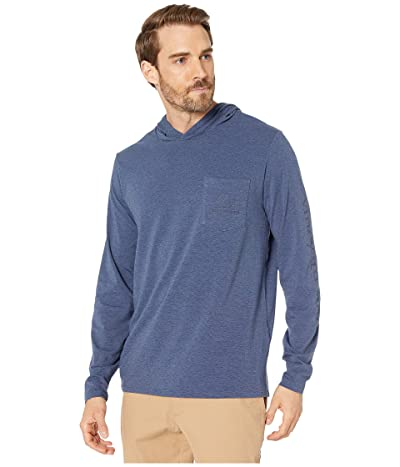 Vineyard Vines Edgartown Whale Long-Sleeve Hoodie T-Shirt (Moonshine) Men