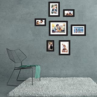 Art Street Love 7 Black Wall Photo Frames Collage Picture Frames Wall Gallery Mix Size (3 Units 4x6, 3 Units 6x8, 1 Unit 8...