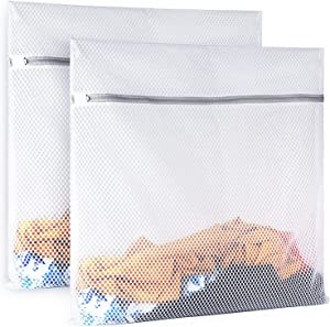 2 Pack Mesh Laundry Bag-2 XXL Oversize Delicates Laundry Bag-Extra Large Durable Laundry Wash Bag with New Honeycomb Mesh-Big Clothes,Household,Bed Sheet,Stuffed Toys,Lingerie Net Bags for Laundry