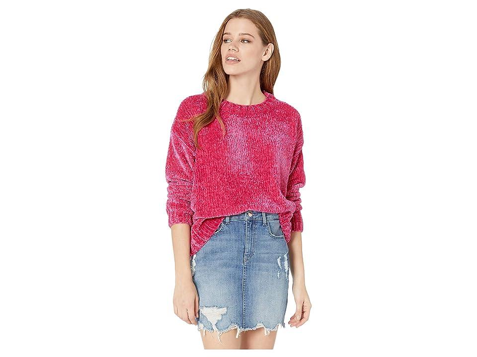 Sanctuary Chenille Pullover Sweater (Street Pink) Women