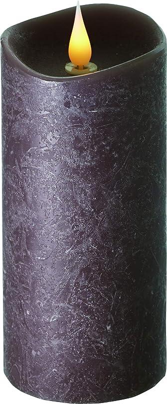 顕現ラッシュわがままエンキンドル 3D LEDキャンドル ラスティクピラー 直径7.6cm×高さ18.5cm ブラウン