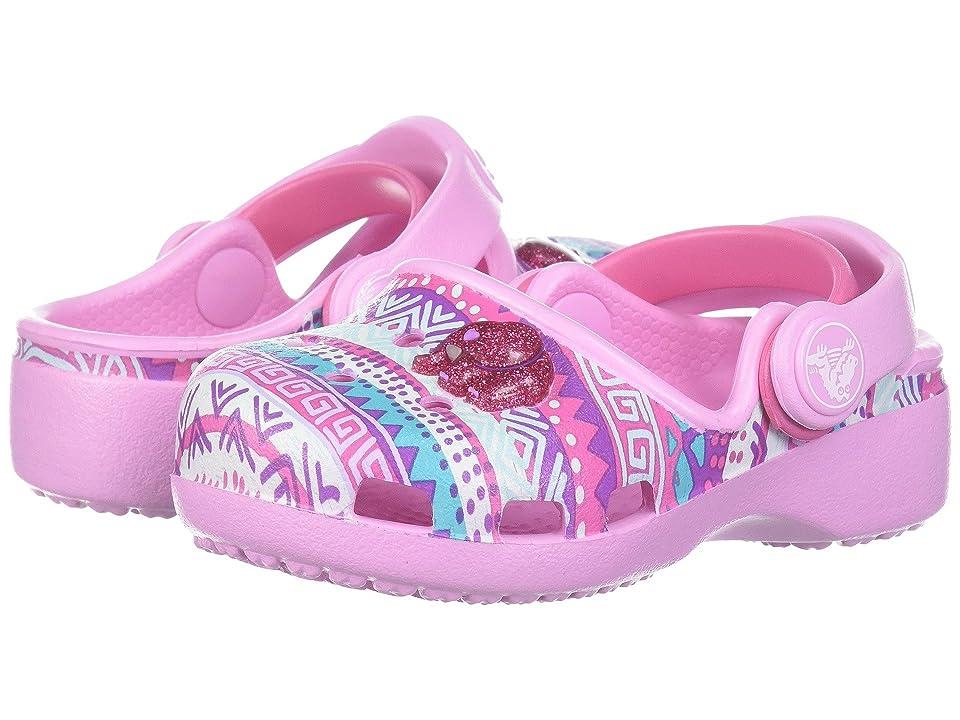 Crocs Kids Karin Novelty Clog (Toddler/Little Kid) (Carnation) Girls Shoes