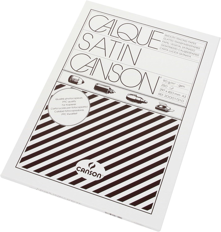 CANSON Satin transluzente 90 g m², A3 A3 A3 250 Blatt Transparentpapier Ries (Pack) B00ABJU9MY   Viele Sorten  cfe490