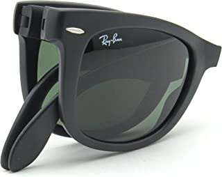 Ray-Ban RB4105 Wayfarer Folding Classic Sunglasses Matte Black 601S - 50mm