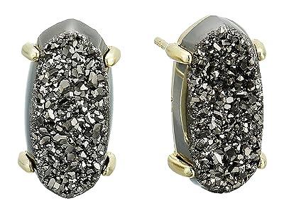 Kendra Scott Betty Earrings (Gold/Platinum Window Drusy) Earring