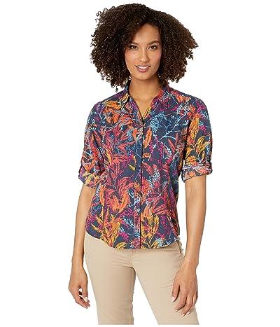 Royal Robbins Expedition Print 3/4 Sleeve Shirt (Navy) Women