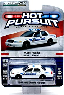 MAUI, HAWAII POLICE / 2008 FORD CROWN VICTORIA * Hot Pursuit Series 17 * 2016 Greenlight Collectibles Limited Edition 1:64 Scale Die-Cast Vehicle