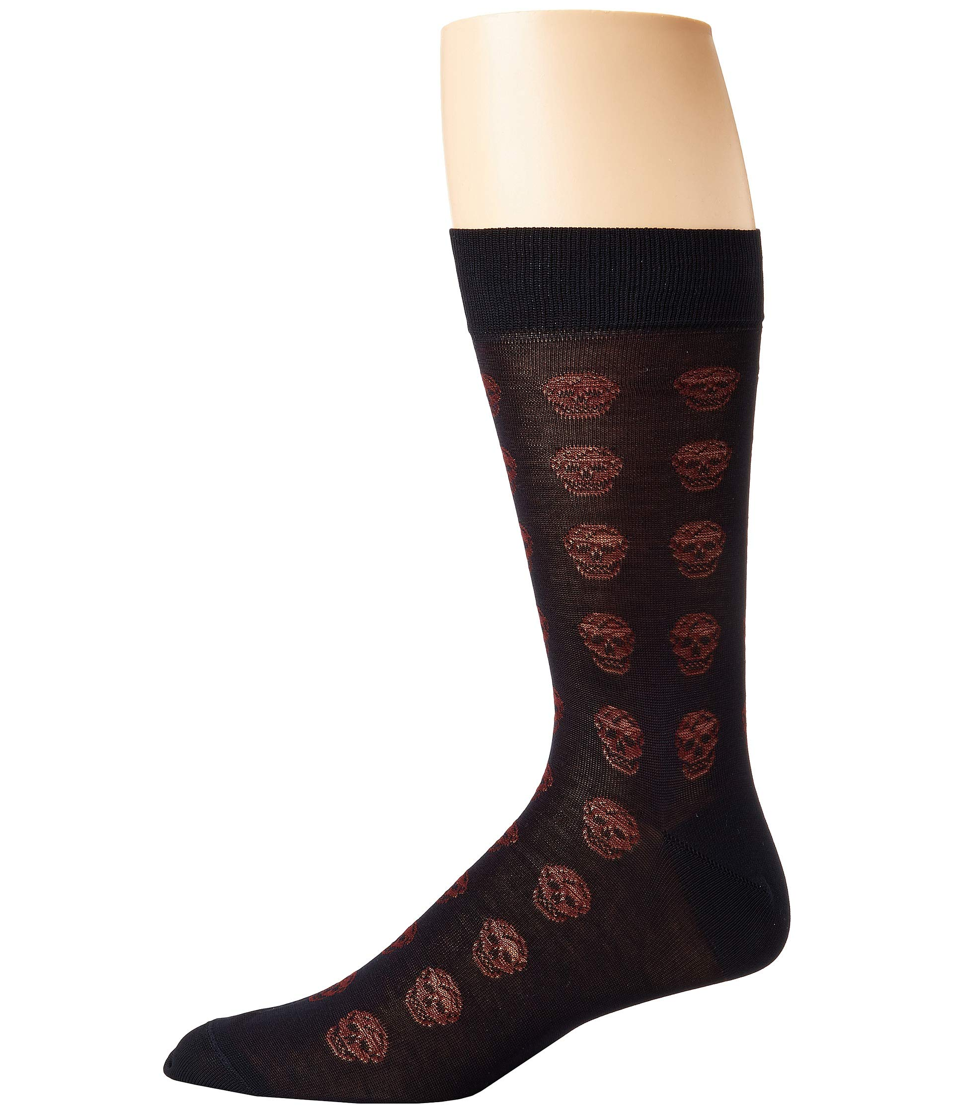 Short Skull Socks Alexander Midnight Mcqueen Blue bordeaux aqU4w17