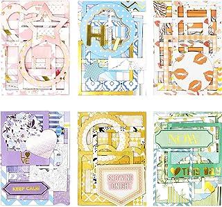 6 paquets Autocollants de bordure de photo Autocollant de cadre photo Autocollant Scrapbook Auto-adhésif Fabriqué en carto...