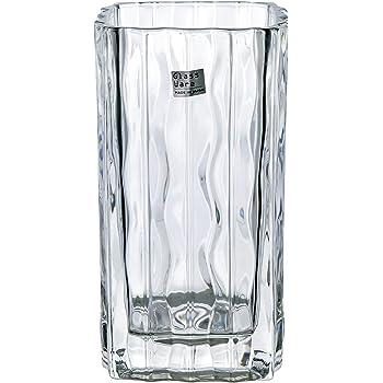 アデリア ガラス 花瓶 クリア 幅9.2×奥9.2×高17.2cm ルアール花器 1個箱入 日本製 P-6496
