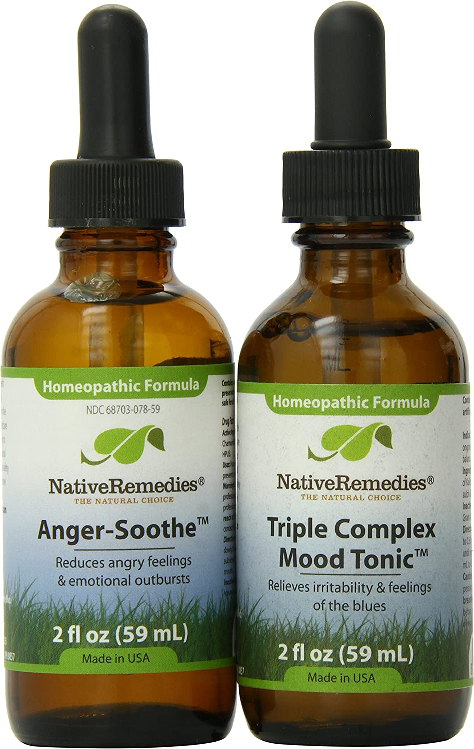 Native Remedies Quality inspection Anger-Soothe and Triple trend rank Combo Tonic Mood Complex
