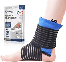 GelpacksDirect Ankle Ice Pack Wrap for Pain Relief - Reusable Microwave Ankle Warmer - Gel Pack for Achilles Tendonitis, Cold Compress Brace for Swollen Feet and Ankles Swelling