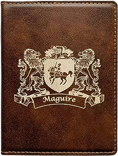 Maguire Irish Coat of Arms Leather Passport Wallet
