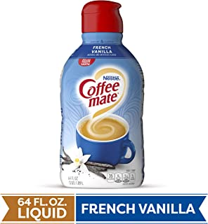 COFFEE MATE French Vanilla Liquid Coffee Creamer 64 Fl. Oz. Bottle | Non-dairy, Lactose Free, Gluten Free Creamer