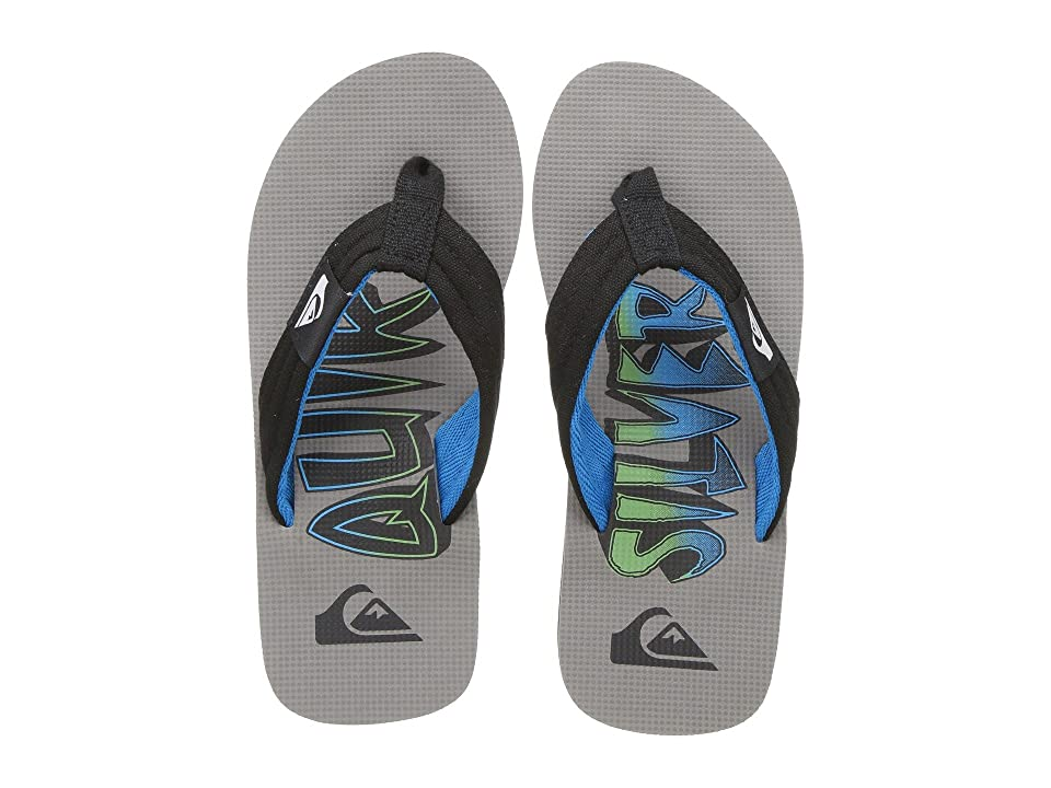 Quiksilver Kids Molokai Layback (Toddler/Little Kid/Big Kid) (Black/Blue/Grey) Boys Shoes