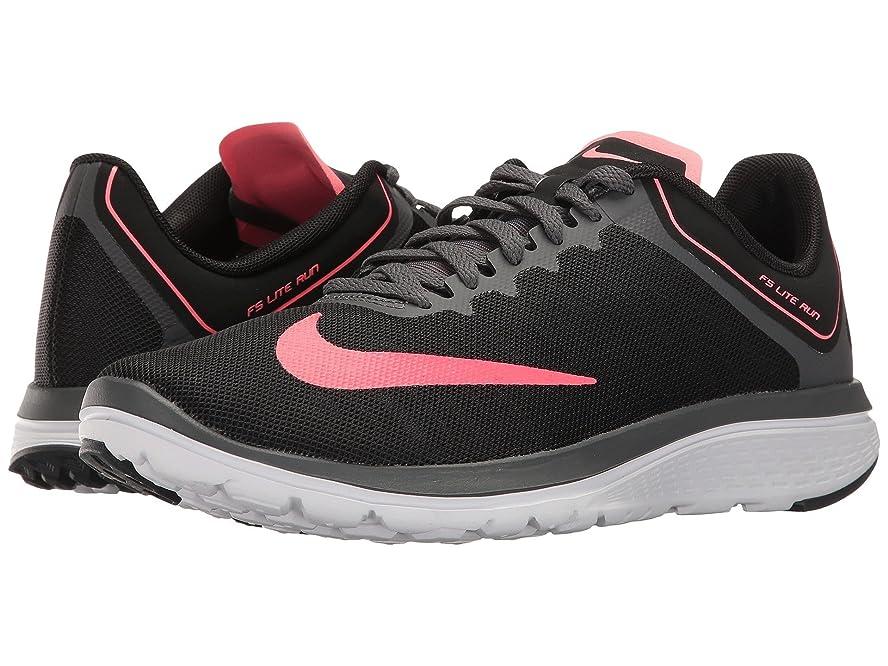 パン屋上級電気技師(ナイキ) NIKE レディースランニングシューズ?スニーカー?靴 FS Lite Run 4 Black/Hot Punch/Dark Grey/White 8 (25cm) B - Medium